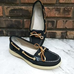 Sperry Black Loafer Boat Shoes